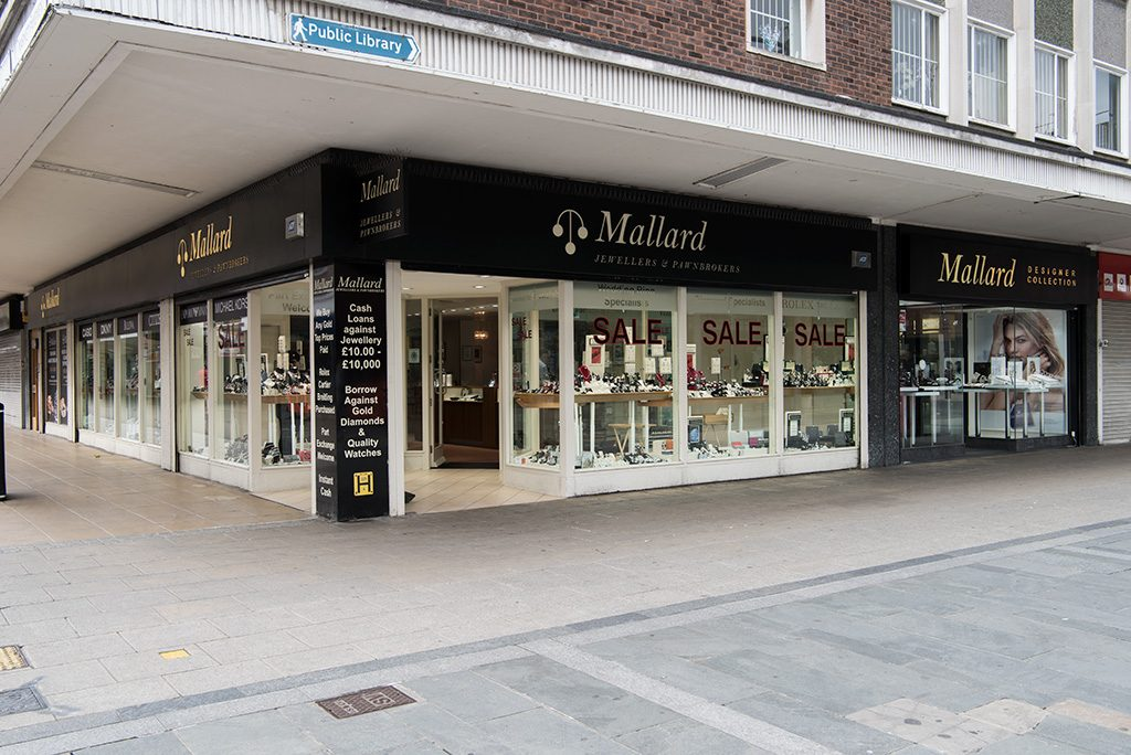 The entrances to Mallard's in Basildon